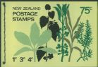 NZ Booklet SGSB28 75c Decimal Pictorial Booklet containing SG1008, 1010 and 1011